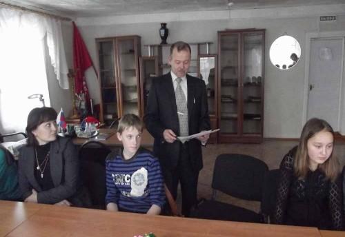 Прием у главы сельского поселения «Красночикойское» лучших волонтеров