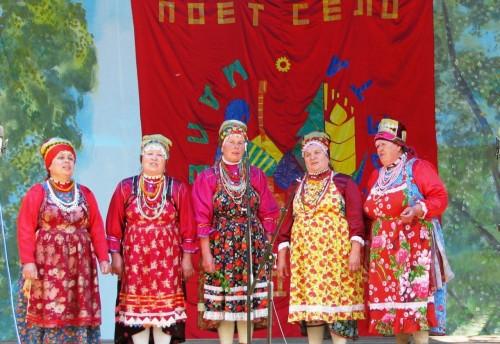 ольклорная группа «Музейная мозаика» из Красного Чикоя  приняла участие в межрайонном  смотре – конкурсе «Пой, село родное».